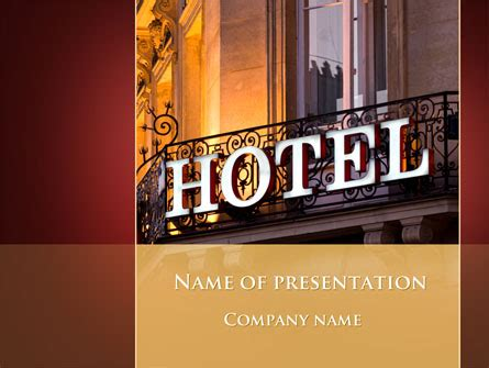 Hotel Powerpoint Presentation Templates Hotel Signboard Presentation Template For Powerpoint And