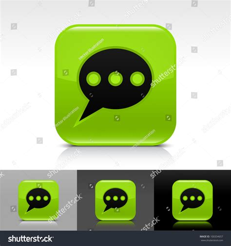 black chat room green glossy web button with black chat room sign rounded square shape icon with shadow