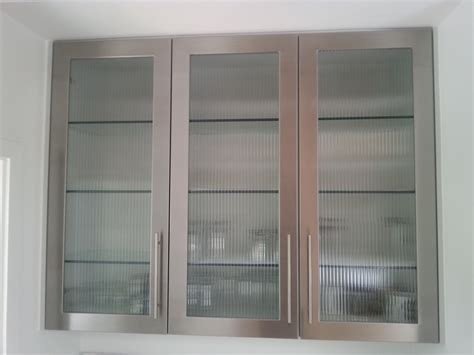 stainless steel kitchen cabinet doors custom stainless
