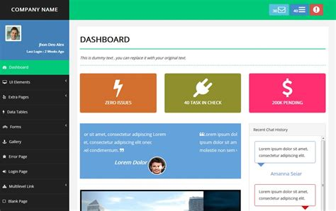 100 Best Free Bootstrap Admin Templates 187 Css Author Responsive Bootstrap Dashboard Template Free