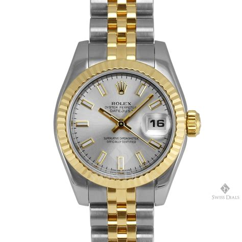 Rolex Villenia Gold Coulor Fashion Diskon rolex datejust steel and gold silver stick fluted bezel jubilee band new style