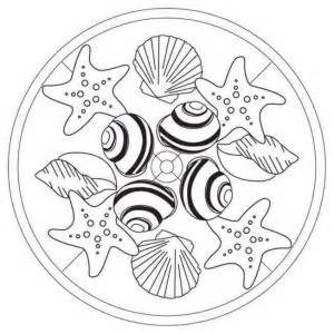 Summer Mandala Coloring Pages Beach  sketch template