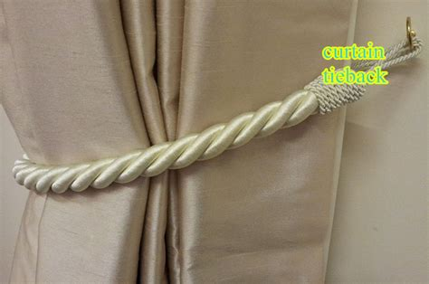 rope curtain tie backs diy aliexpress com buy 2 pairs stunning gold thick large
