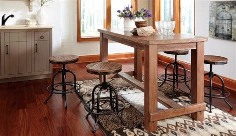 pinnadel counter height table pinnadel rectangular counter height dining room set from
