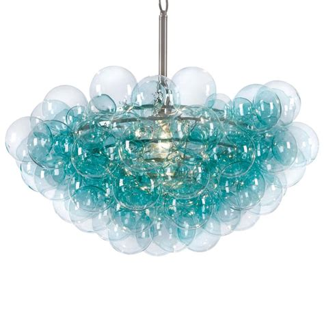 Turquoise Chandelier Sima Modern Floating Glass Bubbles Aqua Chandelier Everything Turquoise