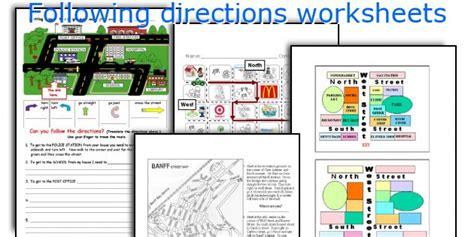 Following Directions Worksheet Pdf