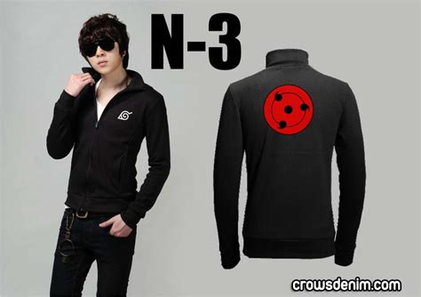 Jaket Crows Denim crows denim jaket anime madara s sharingan symbol