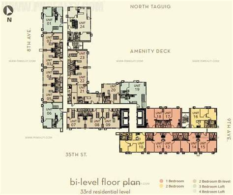 bi level floor plans the montane preselling condominium for sale in taguig metro manila with price list