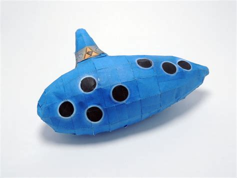 How To Make A Paper Ocarina - papercraft ocarina by indiefyre on deviantart
