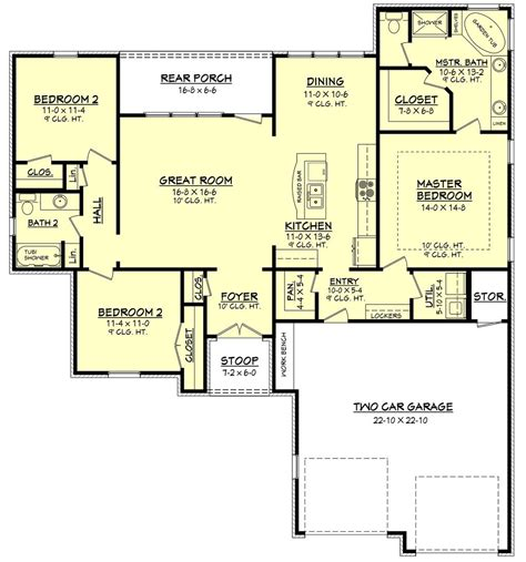 1500 sq ft ranch house plans ranch style house plans 1500 square foot home 1 story 4 bedroom luxamcc