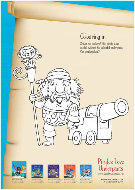 Pirates Love Underpants Colouring   Scholastic Kids' Club