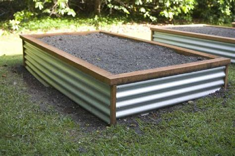 corrugated metal garden beds love the corrugated iron raised garden beds pinterest
