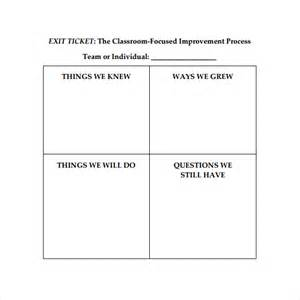 Exit Ticket Template by Exit Ticket Template 9 Free Documents In Pdf Word