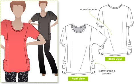 jersey hole pattern stylearc ada knit top sewing pattern