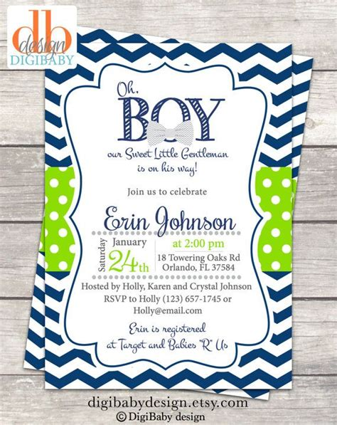 Blue And Green Baby Shower by Blue And Green Baby Shower Invitation Available On Etsy