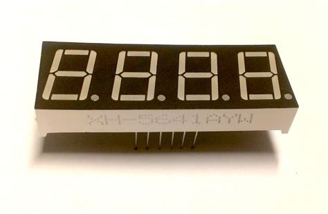 cathode led display 4 digit seven segment led display common cathode from rajbex on tindie