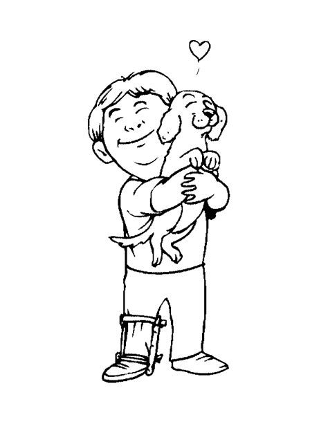 walking dog coloring page boy playing with dog coloring page coloring home