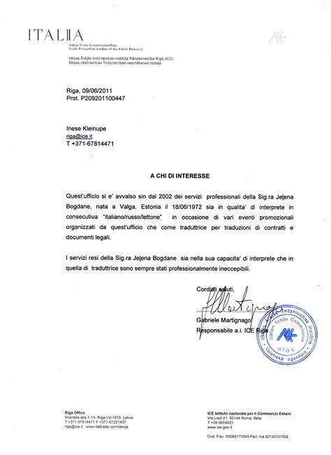 lettere di raccomandazione riferimenti e raccomandazioni traduzioni in russo da