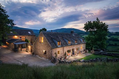 Modern rustic cottage in the English countryside of