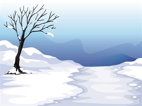 winter trees nature powerpoint templates powerpoint background images clipart best