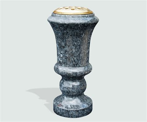 Granite Vases by Polished Black Granite Vase Memorials Of Distinction