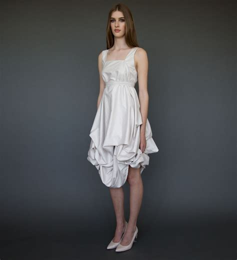lovely short wedding dress in ivory casual wedding by