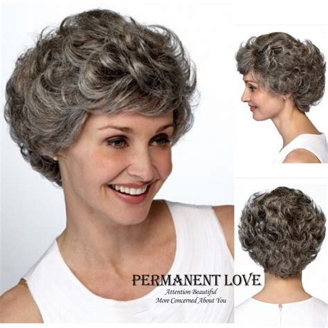 salt and pepper pixie cut human hair wigs gray hair wigs for women memes