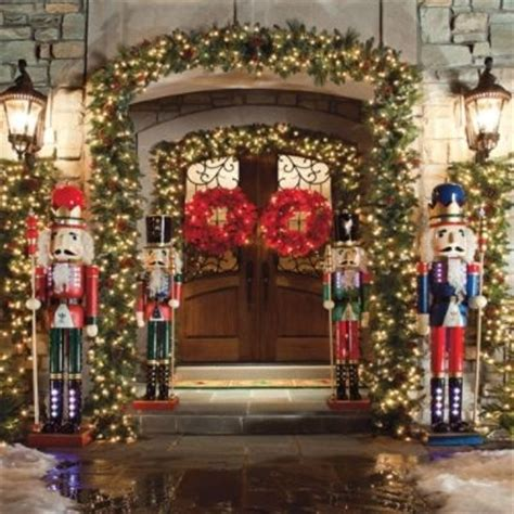 lighted nutcrackers christmas outdoor decor pinterest