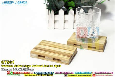 Souvenir Pernikahan Tatakan Gelas Box Asg tatakan gelas kayu set isi 4pcs souvenir pernikahan