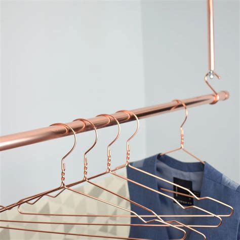 Hanger Gantungan Rail Gordyn 100cm copper clothes hanging rail by proper copper design notonthehighstreet