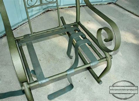 How to repair vinyl strap patio chairs   Let's Get Crafty
