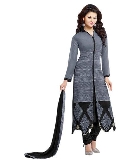 dress design rs jenil fashion grey cotton pakistani suits semi stitched