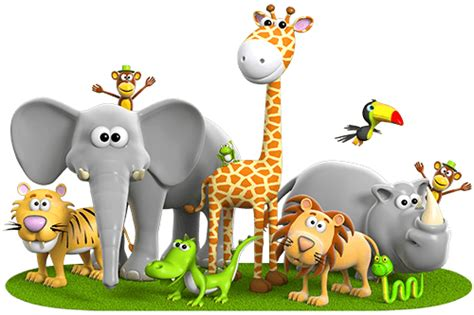 imagenes animales jungla vinilo infantil animales de la jungla