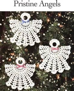 pristine angels crochet patterns christmas ornaments