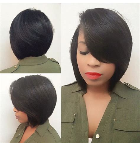 short hair cut that are sewn in pin by renee on bob hairstyles pinterest bobs hair
