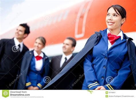 Flight Attendant Cabin Crew by Flight Attendant With Cabin Crew Stock Image Image 23746651