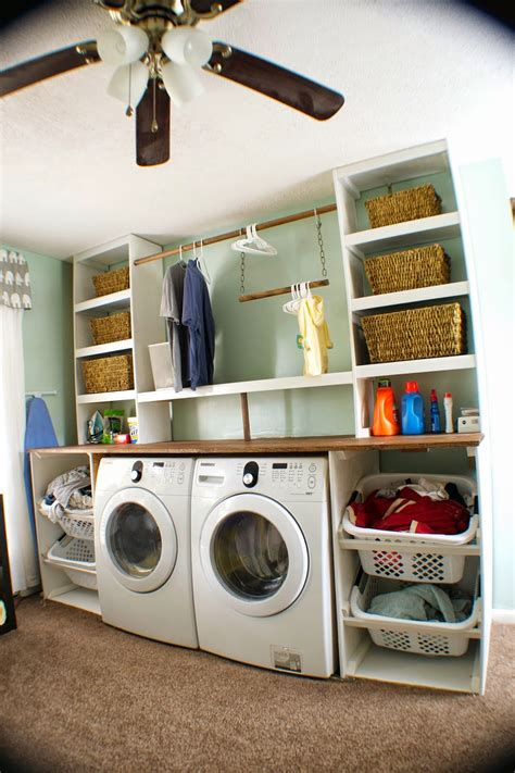 how to build a laundry remodelaholic built in laundry unit with shelving