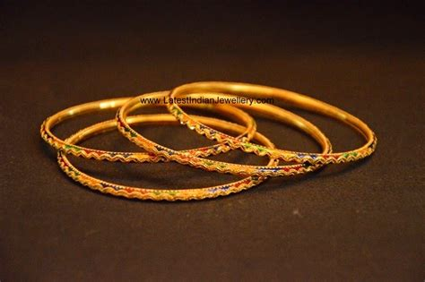 multi colored gold bangles latest indian jewellery designs