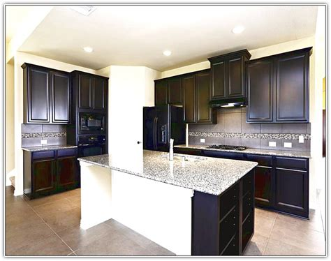 black kitchen cabinets white appliances home design ideas
