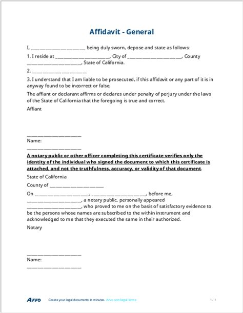 free affidavit form template affidavit definition meaning lawyer terms simplified