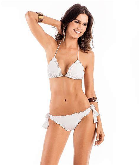 brazilian trim photos white brazilian bikini with scallop trim detailing areia