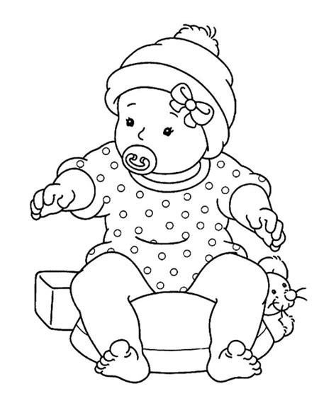 coloring page of baby boy free printable baby coloring pages for kids