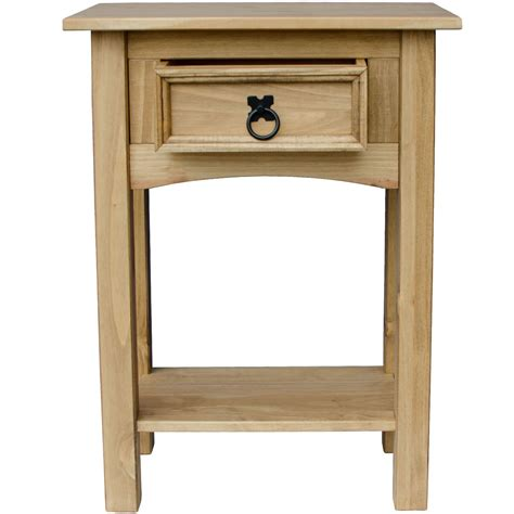 corona 1 2 3 drawer console table with shelf hallway end