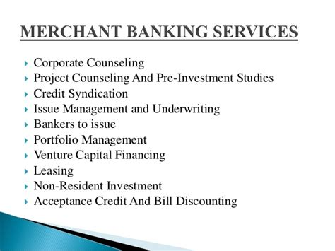 Mba Project On Merchant Banking In India ppt of merchant banking