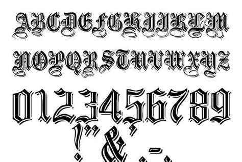 tattoo maker old english font old english font fonts pinterest retro style style