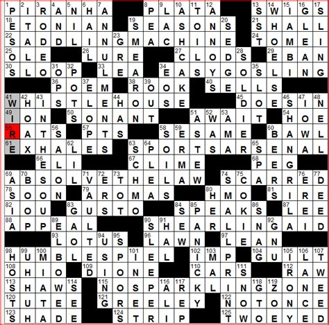 Loan Letters Crossword Wall Journal 5 28 10
