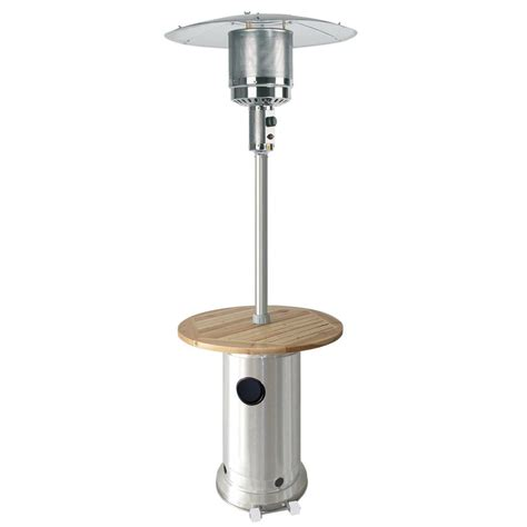 Garden Patio Heater Shop Garden Treasures 41 000 Btu Stainless Steel Liquid Propane Patio Heater At Lowes