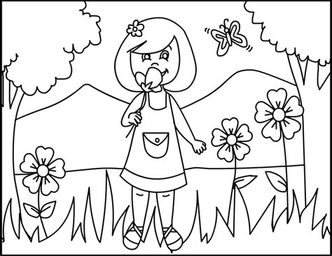 free coloring pages of summer flowers dibujos para pintar con tempera imagui