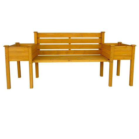 wood bench home depot handy home products phoenix 8 ft cedar bench 18151 1