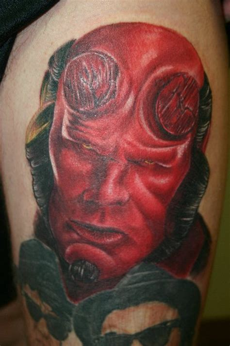 hellboy tattoo by davesloantattoos on deviantart